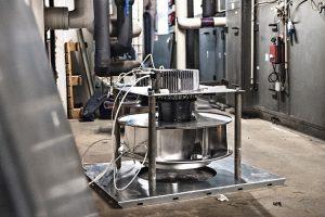 EC-ventilators replace AC-ventilators - that saves 66 percent energy.