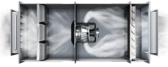 Luftstrom-betrachtung
