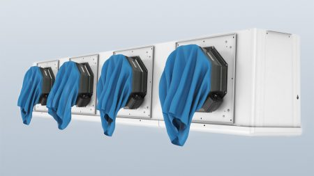 Figure 4: The fan housings are provided with an integrated mount for fitting an air bag which cuts defrosting cycle times by 50%.